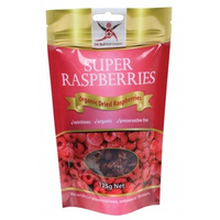 DR SUPERFOODS Organic Dried Super Raspberries - 125g