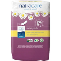NATRACARE Maxi Pads Night Time - 10