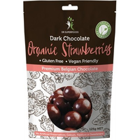 DR SUPERFOODS Strawberries Organic Dark Chocolate - 125g