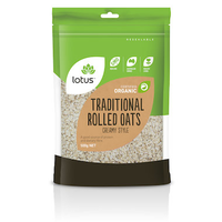 LOTUS Oats Rolled Traditional Creamy Style Organic 500g