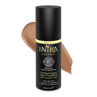 INIKA Certified Organic Liquid Foundation with Hyaluronic Acid Tan 30ml
